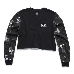 Disney x Vans Jacks Check Long Sleeve Crop T-shirt